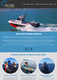 Wild Ocean Fishing Charters web design Cape Town